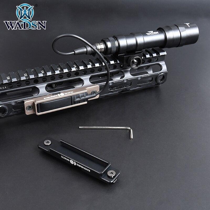 Wadsn Airsoft Flashlight Pressure Switch Pad RAT Tail Slot For Surefir M300 M600 Scoutlight Fit M-LOK Keymod 20mm Picatinny Rail